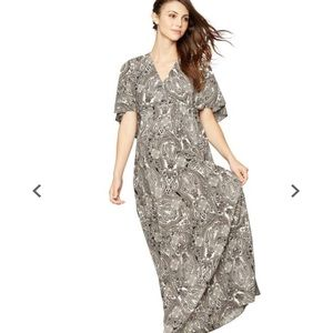 Rachel Zoe for Pea in a Pod | Grey Paisley Maxi